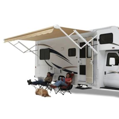 Picture of Carefree Eclipse/Travel'r/Pioneer Burgundy Vinyl 18'L X 8'Ext Adj Pitch Springless Patio Awning QJ186A00 00-0780
