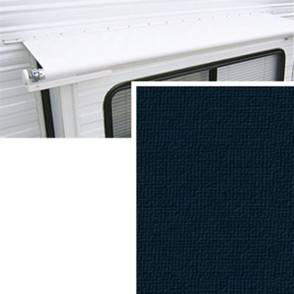 """Picture of Carefree  10' 6"""" w/ 42"""" Ext Solid Black Denim Vinyl Slide Out Awning Fabric DG1266242 00-1442"""