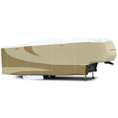 """Picture of ADCO Tyvek (R) Plus Gray Polypropylene Cover For 23' 1""""-25' 6"""" 5th Wheel Trailers 34852 01-0139"""