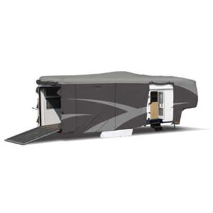 """Picture of ADCO Designer SFS Aquashed (R) Gray Fabric Cover For 24' 1""""-28' Toy Haulers 52273 01-0261"""
