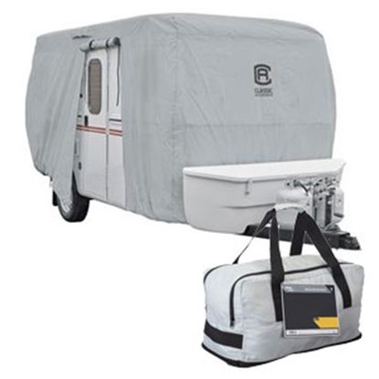 "Picture of Classic Accessories PermaPro Molded Fiberglass RV Cover For 8'1""-10' Trailer 80-407-141001-RT 01-0906"