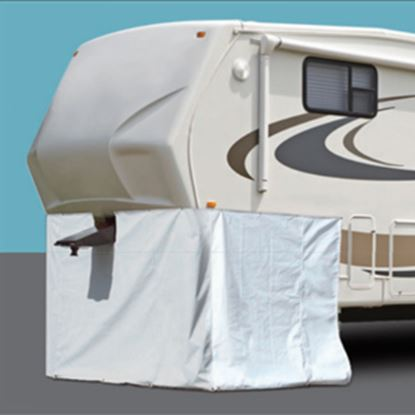"Picture of ADCO  296""L X 64""H Polar White Vinyl Snap Mount Fifth Wheel Skirt 3503 01-1027"