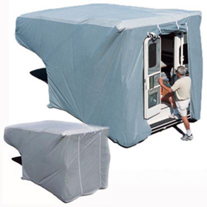 Picture of ADCO SFS AquaShed (R) Gray Fabric/Polypropylene Medium Cover For 8'-10' Truck Campers 12262 01-1157