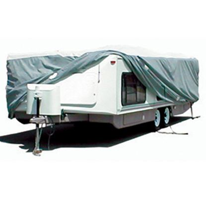 "Picture of ADCO Tyvek (R) 273""L x 104""W x 60""H Cover For Up To 22' 6"" Hi-Lo Style Trailers 22852 01-1215"
