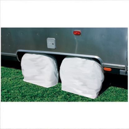 """Picture of Camco  1-Pair Arctic White 36-39"""" Tire Covers 45325 01-1398"""