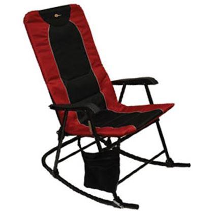 Picture of Faulkner  Burgandy/Black Dakota Folding Rocking Chair 49596 03-0331