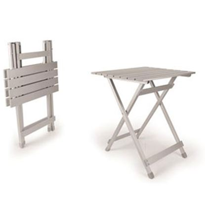 """Picture of Camco  19-1/2""""L x 19""""W Top; 23.7""""H Aluminum Folding Table 51891 03-0656"""