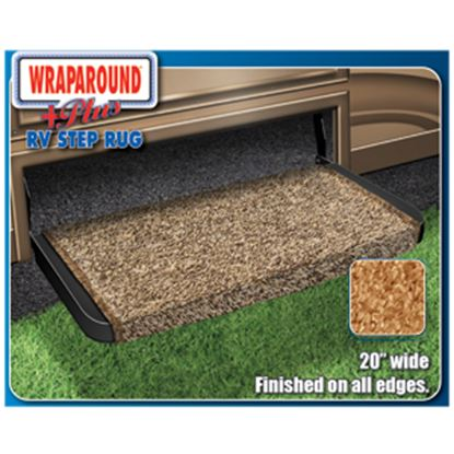 """Picture of Prest-o-Fit Wraparound (R) Plus Black 20"""" Entry Step Rug 2-1072 04-0423"""