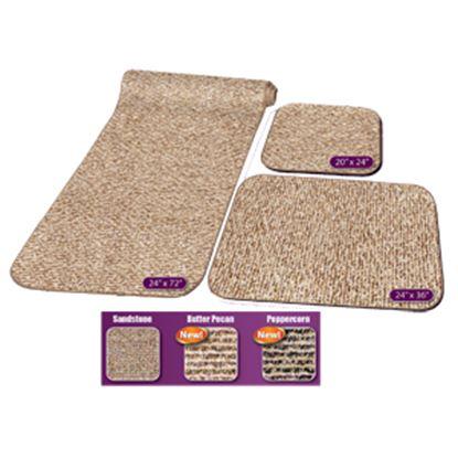 Picture of Prest-o-Fit Decorian (R) Butter Pecan 3-Piece RV Rug Set Carpet 5-0262 04-0454