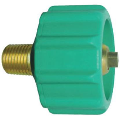 """Picture of JR Products  1-5/16"""" Female ACME Quick Connect x 1/4"""" MPT LP Hose Connector 07-30285 06-0078"""