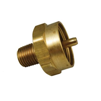 """Picture of Marshall Excelsior  1""""-20 FNPT Inlet x 1/4"""" MNPT Outlet Brass LP Adapter Fitting ME488 06-0427"""