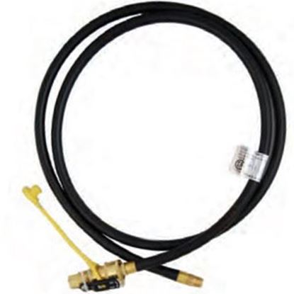 "Picture of Marshall Excelsior  1/4"" MNPT X QD 1/4"" FNPT w/ Cap X 144""L LP Feed Hose MER14TCQD-144P 06-3880"