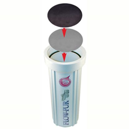 """Picture of FlowPur  3-5/8"""" Stainless Steel Fresh Water Filter Housing Winterizing By-Pass Plate FP-WP100 10-0547"""