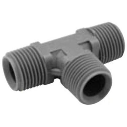 "Picture of Lasalle Bristol QEST 3/4"" Male Thread Run x 1/2 Male Thread Branch Gray Fresh Water Tee 64QT443T 10-0972"