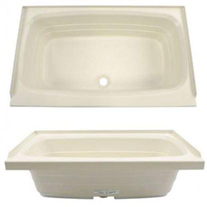 """Picture of Better Bath  Parchment 24""""x38"""" Center Drain ABS Standard Bathtub 209379 10-1729"""