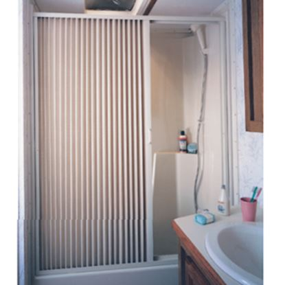 "Picture of Irvine  36"" x 57"" Ivory PVC Shower Door 3657SI 10-2066"