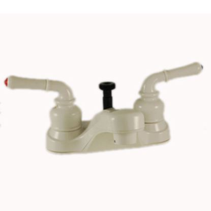 """Picture of Empire Brass Ultra Line White w/Teapot Handles 4"""" Lavatory Faucet U-YWI73W 10-2394"""