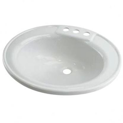 "Picture of Better Bath  19-3/4"" X 16-5/8"" Oval White ABS Plastic Lavatory Sink 209635 10-5701"