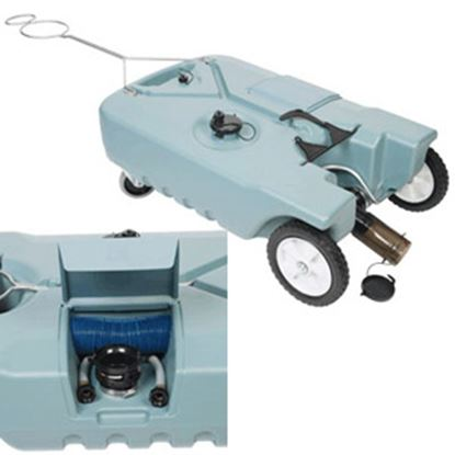 Picture of Tote-N-Stor  18 Gal 4-Wheel Portable Waste Holding Tank 20122 11-0246