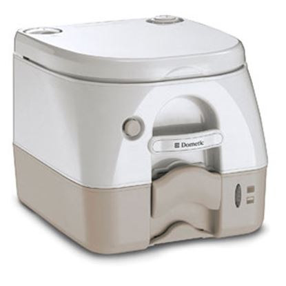 Picture of Dometic 972 Model 2.6 Gal Tan Portable Toilet 301097202 12-0020