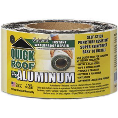 "Picture of Quick Roof  3"" x 25' Roll Aluminum Foil Roof Repair Tape QR325 13-1440"