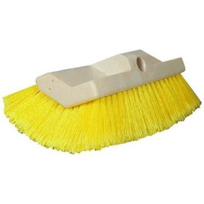 "Picture of Star Brite  10"" Rectangular Yellow Soft Polymer Bristle Car Wash Brush Head 040014 13-1553"