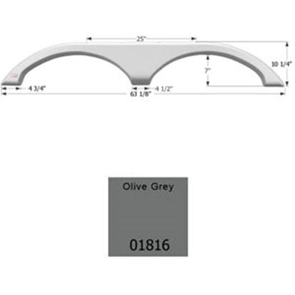 Picture of Icon  Olive Gray Tandem Axle Fender Skirt For Fleetwood Brands 01816 15-0619