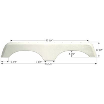 Picture of Icon  Polar White Tandem Axle Fender Skirt For Jayco Brands 01424 15-1600