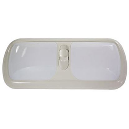 Picture of Arcon  Colonial White w/White Lens Double Euro Style Dome Light 17926 18-0635