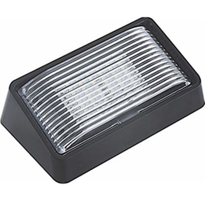 Picture of Green LongLife  Clear w/Amber Lens Rectangular LED Porch Light w/Switch 9090133 18-1187