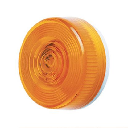 """Picture of Peterson Mfg.  Amber 2.8""""Dia x 1.14""""H Clearance Side Marker Light V102A 18-1402"""