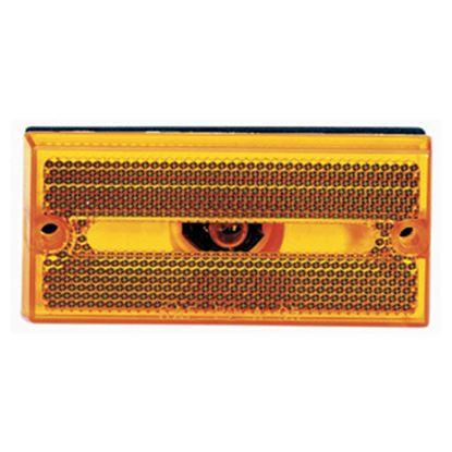 """Picture of Peterson Mfg.  Amber 3.86""""L x 1.8""""H x 0.4""""D Clearance Side Marker Light V132A 18-1411"""
