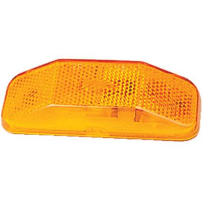 """Picture of Optronics  Amber 4"""" L x 1.5"""" W x 0.938"""" D Side Marker Light MC44ABP 18-1497"""