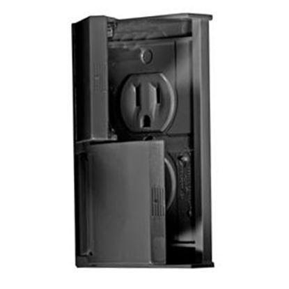 Picture of RV Designer  Black Dual Receptacle S907 18-4984