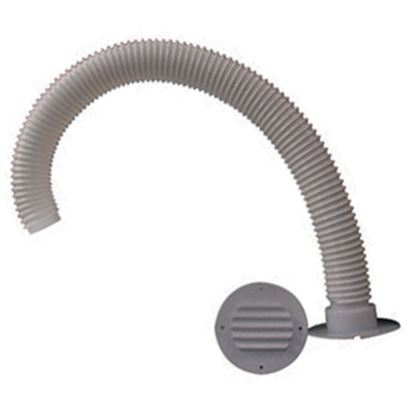 """Picture of MTS  White Battery Box Louvered Vent w/30"""" Hose 274 19-0778"""