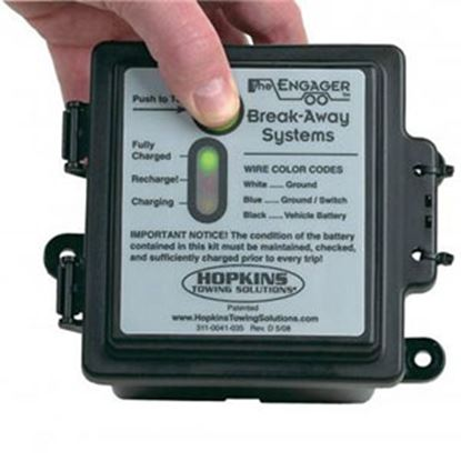Picture of Hopkins Breakaway Engager (TM) Trailer Breakaway Kit w/Battery Charger for 1-2 Axles 20100 19-1573