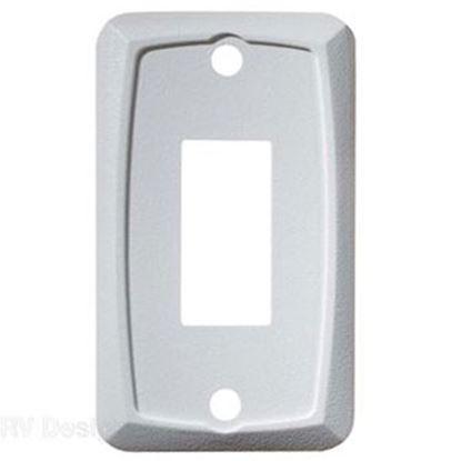 Picture of RV Designer  White Single Opening Multi Purpose Switch Faceplate S381 19-2464