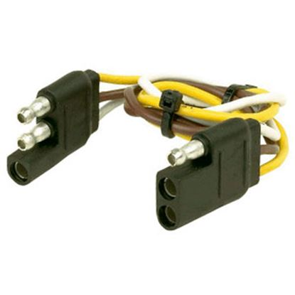 "Picture of Husky Towing  12"" 3-Flat Trailer Wiring Extension Cord/Loop, Bulk 30311 19-3840"