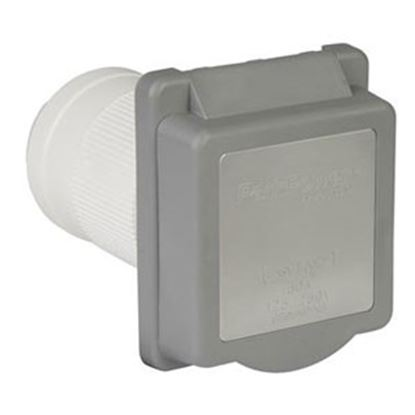 Picture of Marinco  Gray 120V/ 30A Single Indoor/Outdoor Receptacle 6353ELRV.G 19-4097