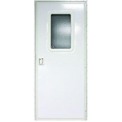 "Picture of Lippert  Polar White Left Opening 24""W x 70""H Radius Entry Door V000381477 20-1456"