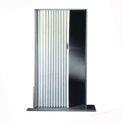 "Picture of Irvine  Ivory 48""x75"" HD Fabric Pleated Folding Interior Door 4875FIB 20-1507"