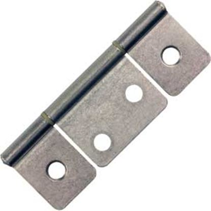 """Picture of JR Products  2-Pack Chrome 3-1/2"""" Non-Mortise Hinge 70635 20-1980"""