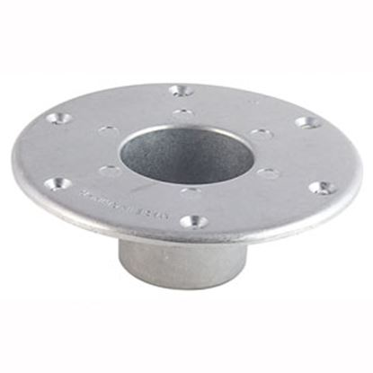 """Picture of AP Products  6"""" Chrome Round Flush Mount Table Leg Base 013-1112 20-3711"""
