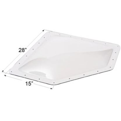 "Picture of Icon  4""H Bubble Dome Neo Angle Clear PC Skylight w/15"" X 28"" Flange 01866 22-0027"
