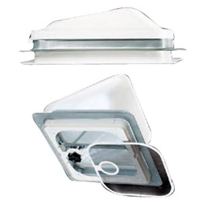 """Picture of Heng's  Off White 4-1/2"""" Deep for 14""""x14"""" Opening Radius Roof Vent Garnish JRP1123B 22-0179"""