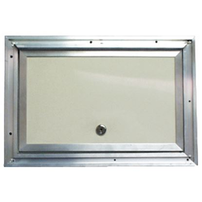 """Picture of Interstate Metal  Colonial White Anodized Aluminum 18"""" X 18"""" Baggage Access Door 22-0613 22-0613"""