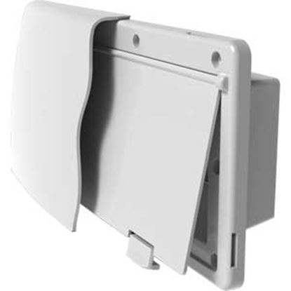 "Picture of JR Products Endura Polar White 12-9/16""W X 5-7/8""H X 1-1/2"" Flange Wall Vent 50035 22-0677"