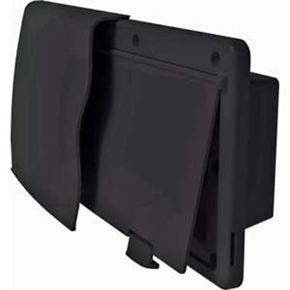 "Picture of JR Products Endura Black 12-9/16""W X 5-7/8""H X 1-1/2"" Flange Wall Vent 50045 22-0678"