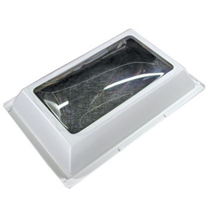 """Picture of Specialty Recreation  4""""H Bubble Dome Rectangle White PC Skylight w/18.5"""" X 28.5""""Flange N1626 22-0716"""