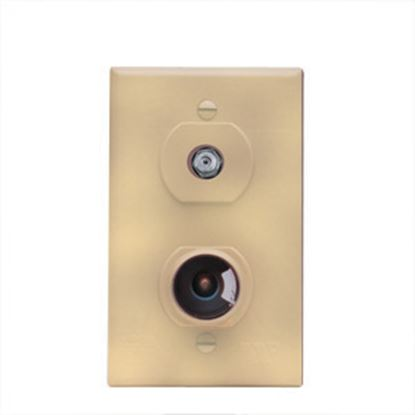Picture of Winegard  Ivory 12V & Cable Indoor Single Receptacle TG-7321 24-0870